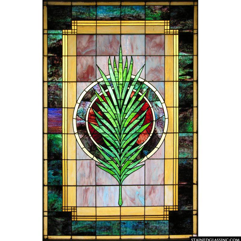 Decorative Palm Window