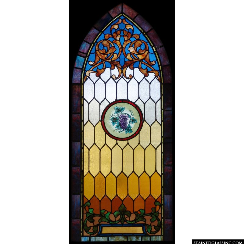 Arched Panel with Grapes