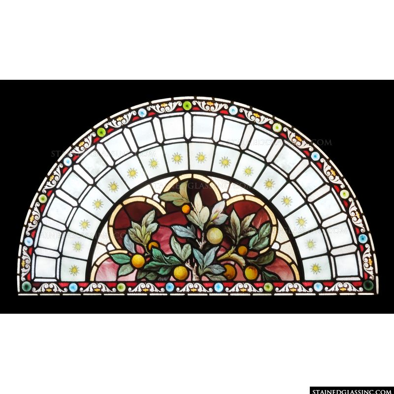 Arched Transom in Stained Glass
