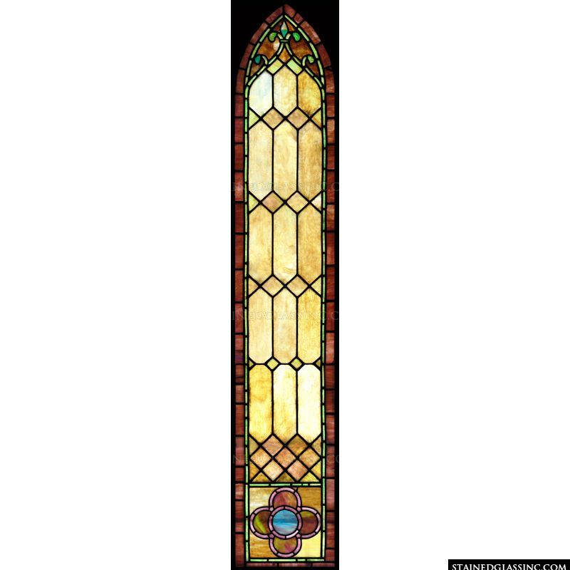 Brown Arched Window