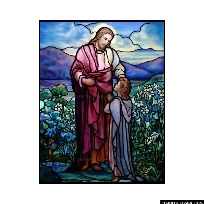 Jesus and Praying Child