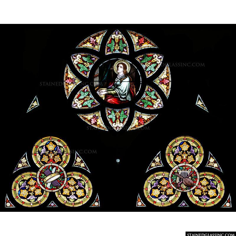 Saint Cecilia with Holy Music Symbols