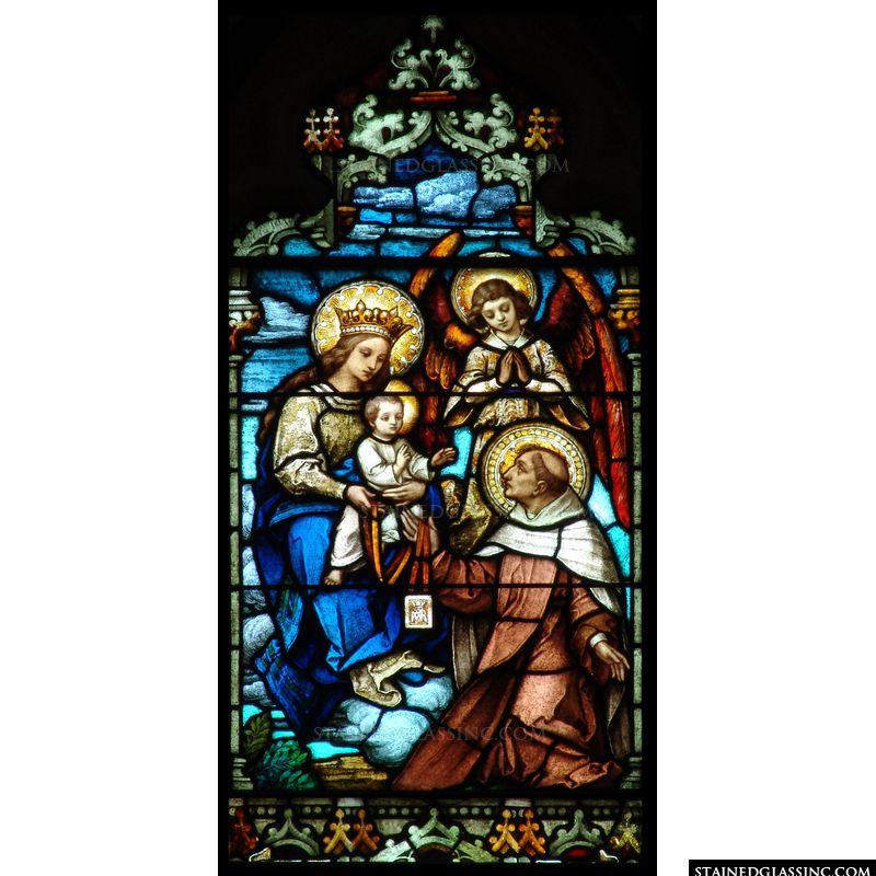 Saint Adoring Baby Jesus