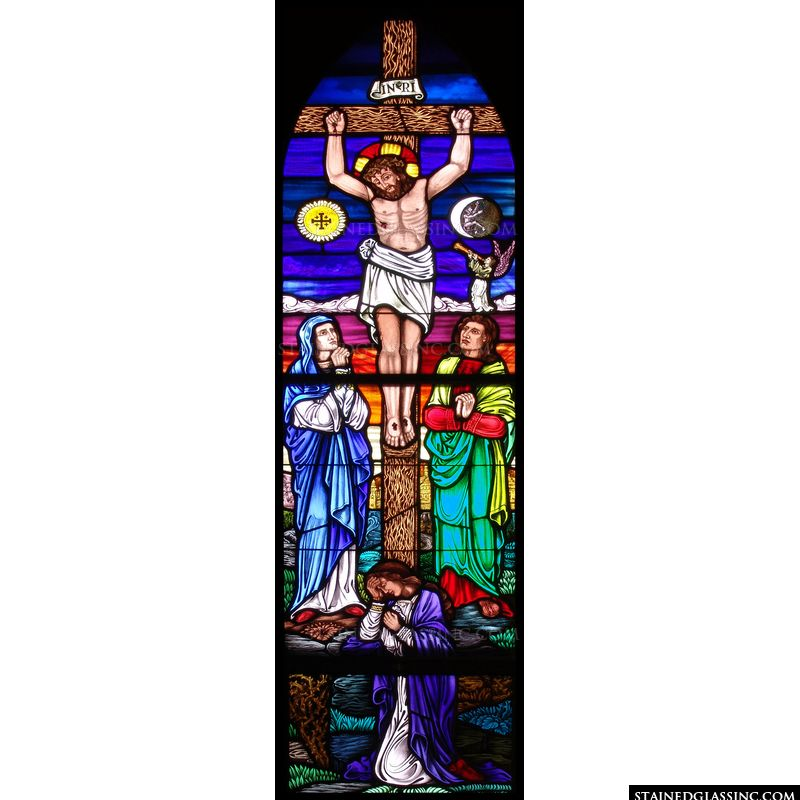 Colorful Crucifixtion of Christ