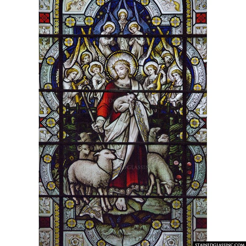 Jesus Leading His Sheep