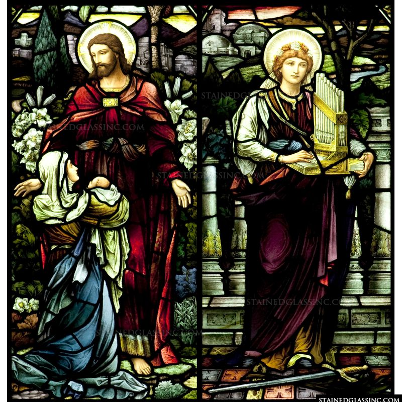 Saint Cecilia and Jesus