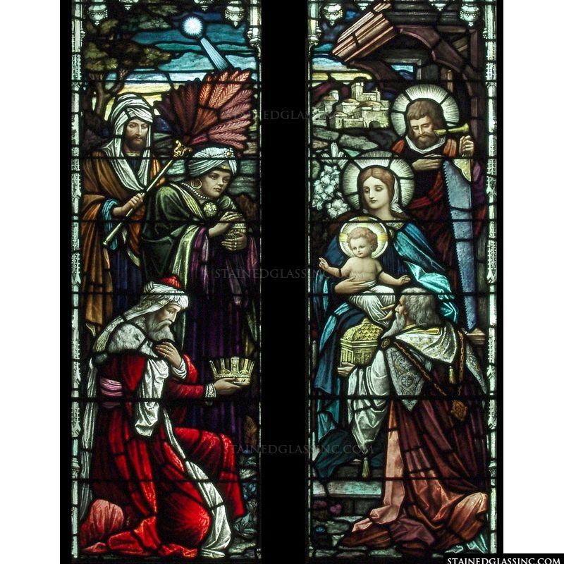 Richly Colored Nativity
