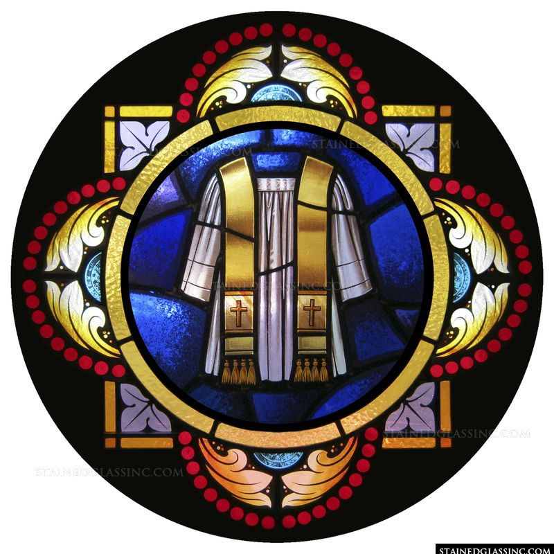 """Holy Orders Symbol"" Religious Stained Glass Window"