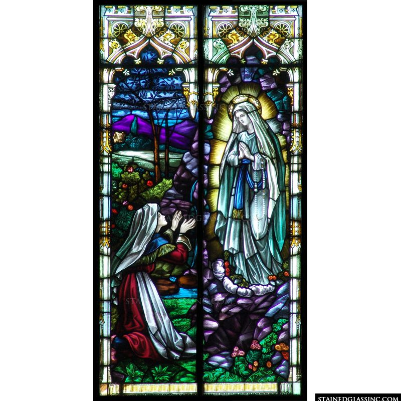 Quot Bernadette And Our Lady Of Lourdes Quot Religious Stained