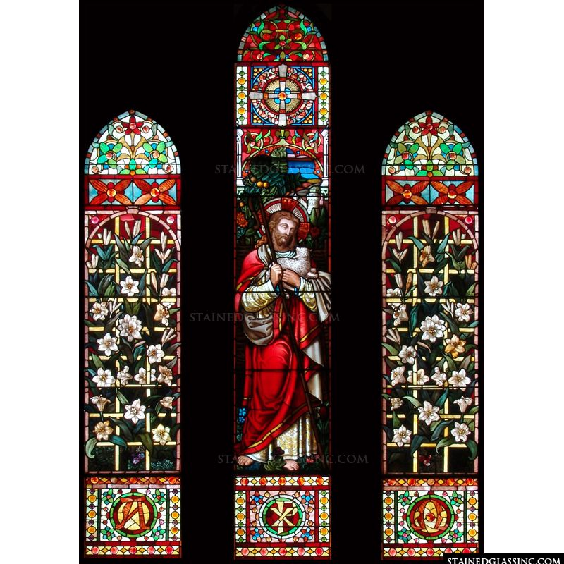 Christ as Shepherd with Lily Panels