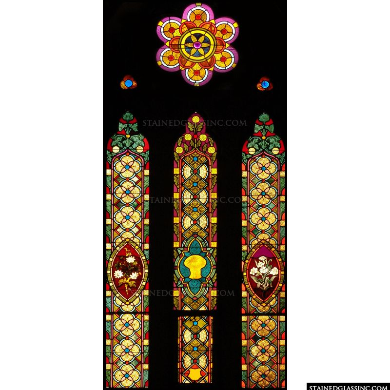 Rose Window and Vertical Panels