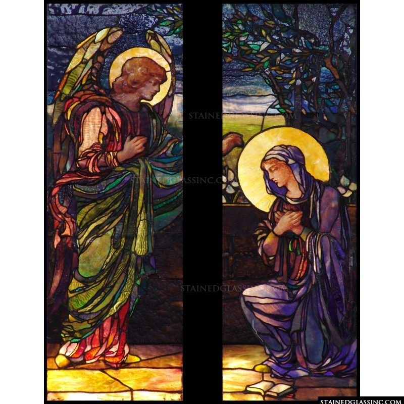 Mary Receives the Annunciation from Gabriel