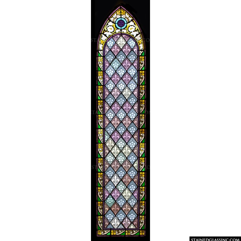 Intricate Stained Glass Panel