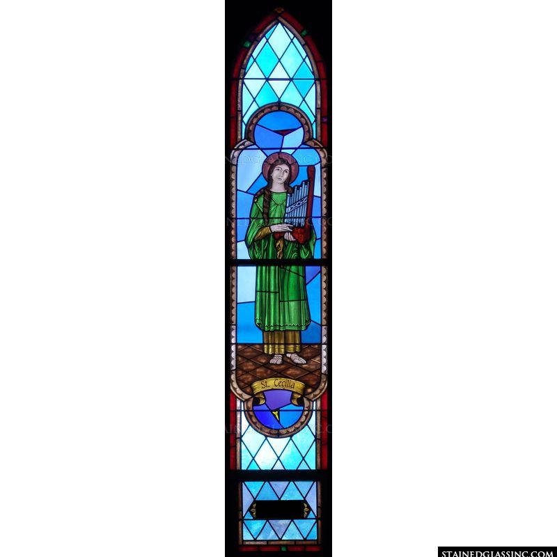 Saint Cecilia Arched Window