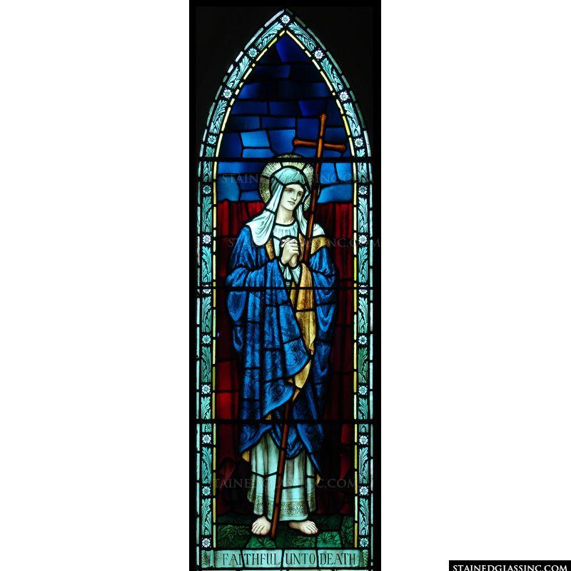 Mary Holding a Cross