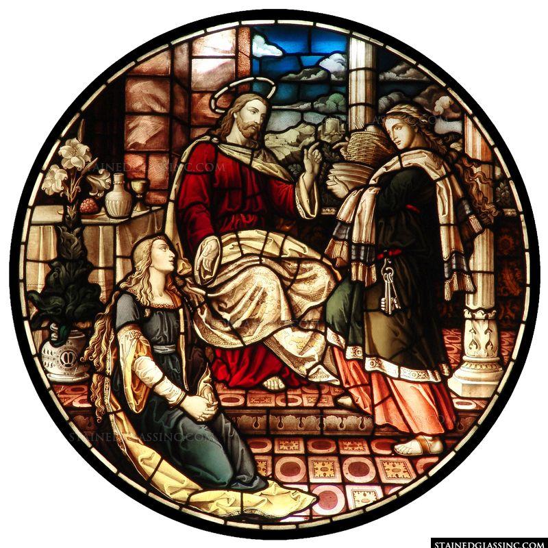 Mary and Martha Rose Window