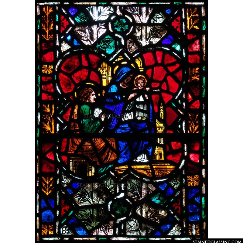 The Holy Family in Stained Glass