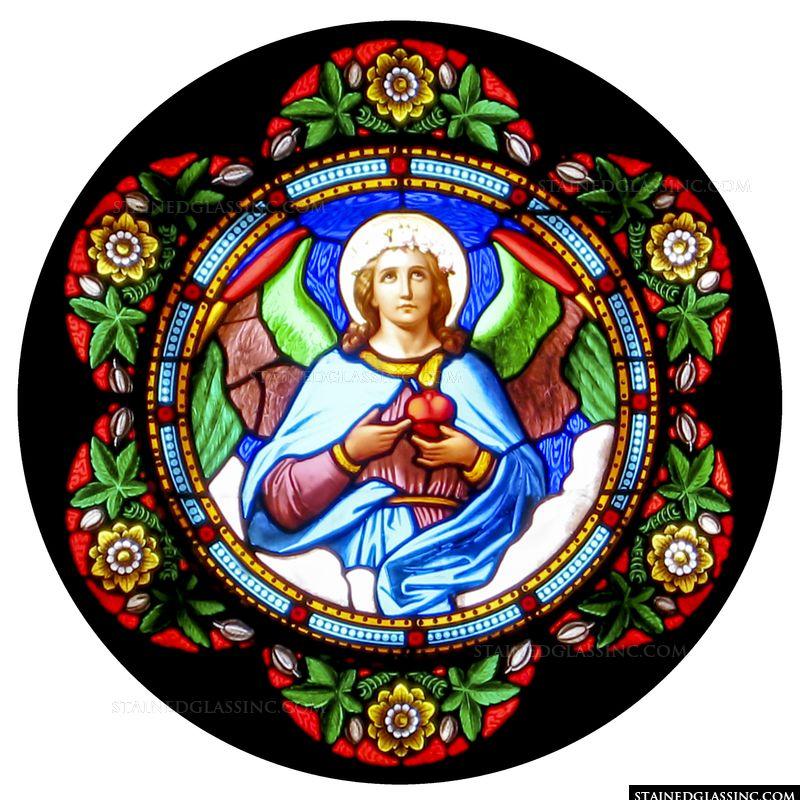 Angel with Sacred Heart