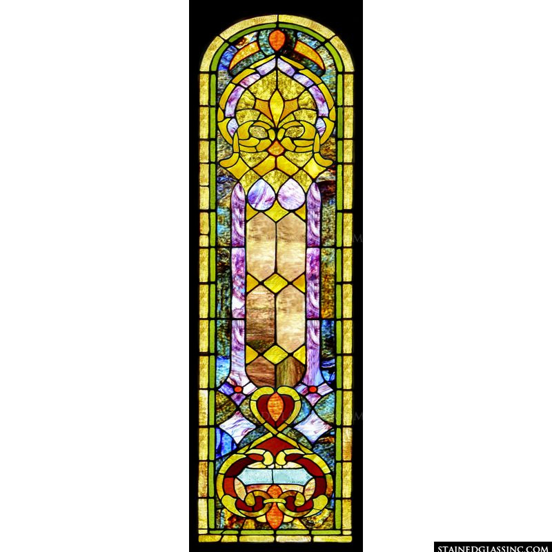 Arched Stained Glass Panel