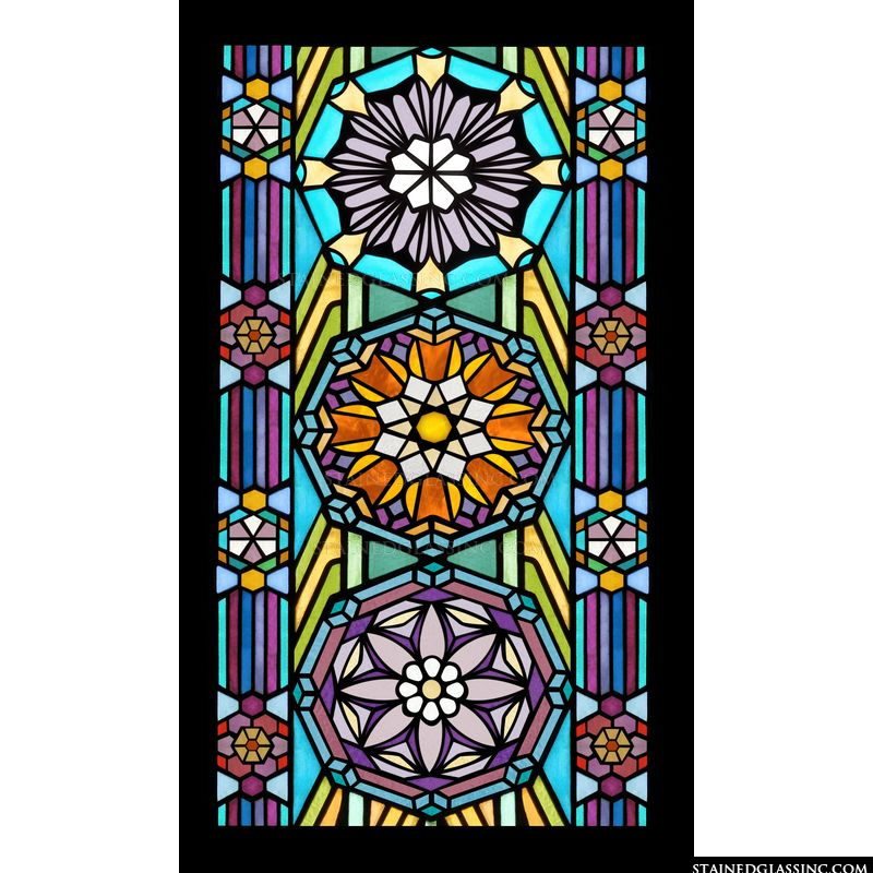Enjoy this Frank Lloyd Wright stained glass window in your home or office.