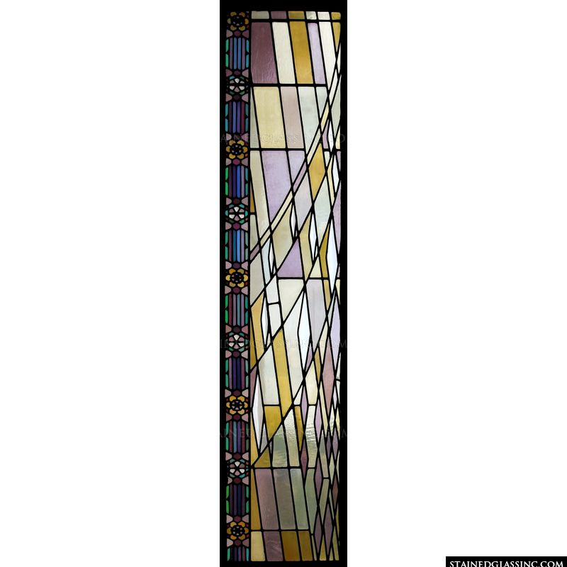 Art Deco stained glass design.