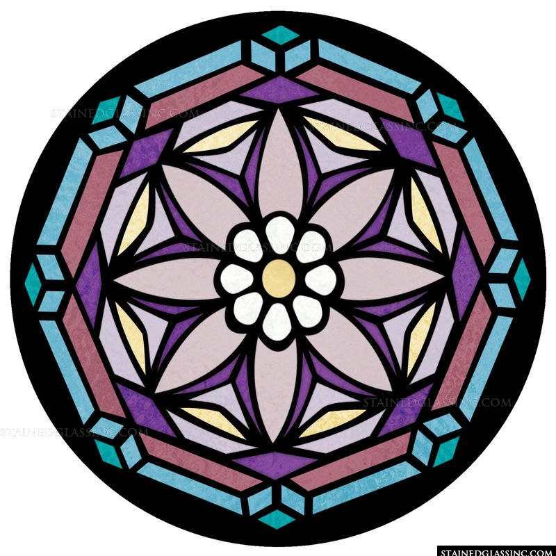 Blooms In Stained Glass