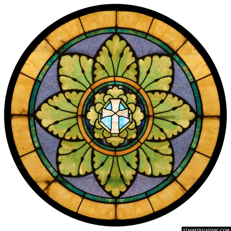 Stained Glass Cross of Christ