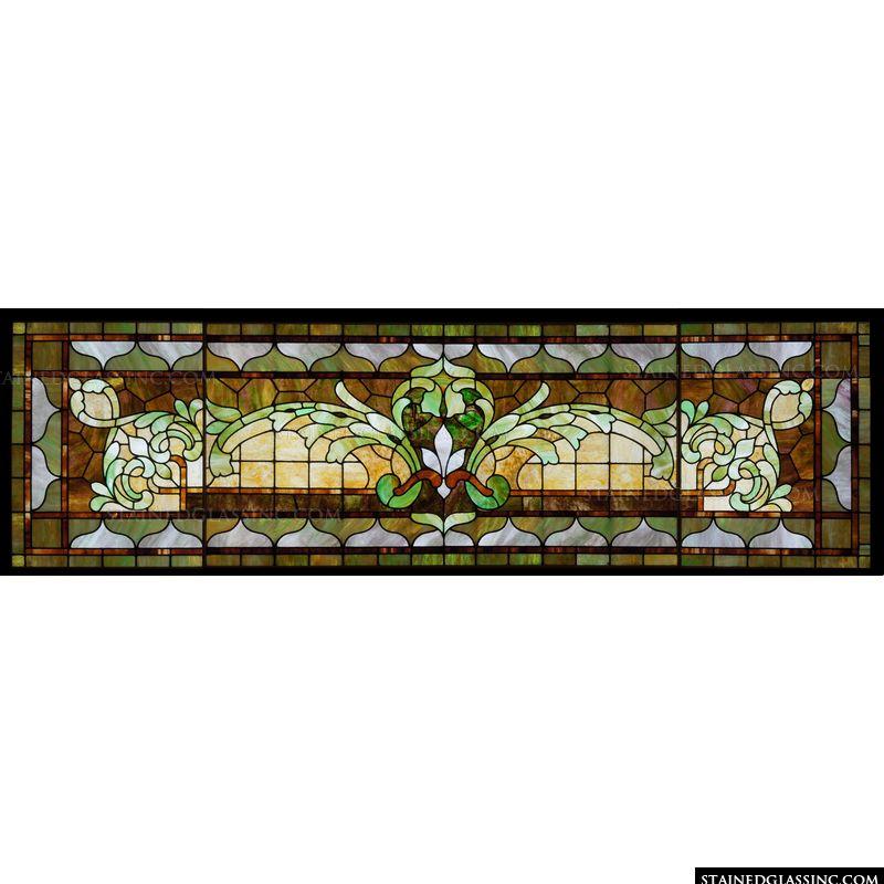 Decorative Transom Window Stained Glass Window
