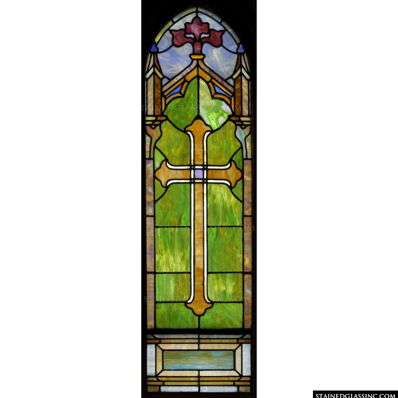 Sacred Cross in Stained Glass
