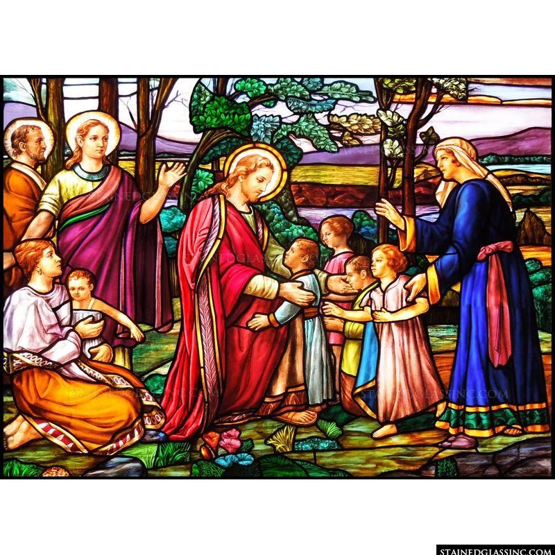 Jesus Teaches the Little Children