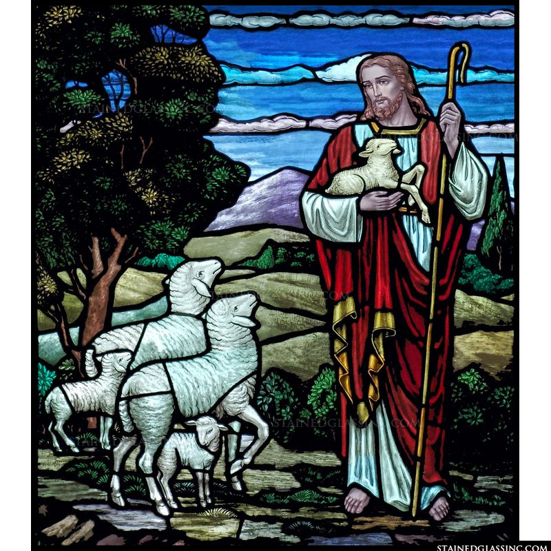 Jesus with His Sheep