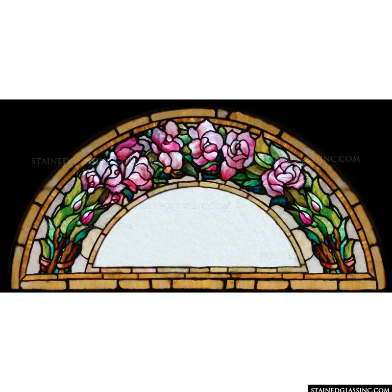 Arched Rose Transom