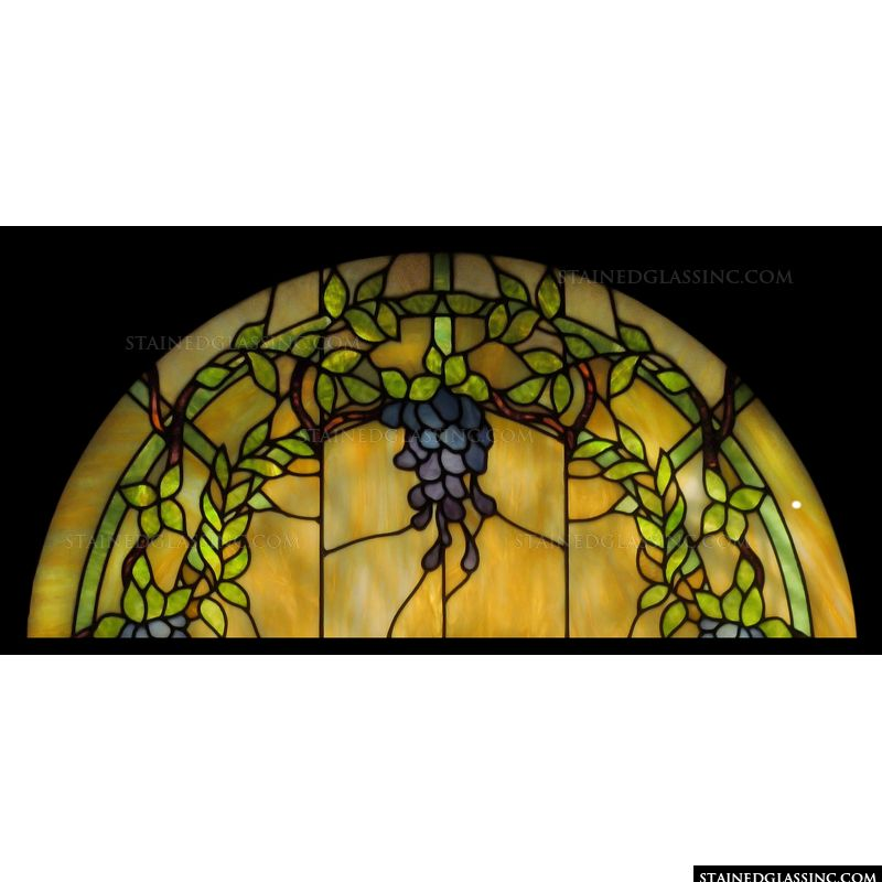 Vine and Grapes Transom