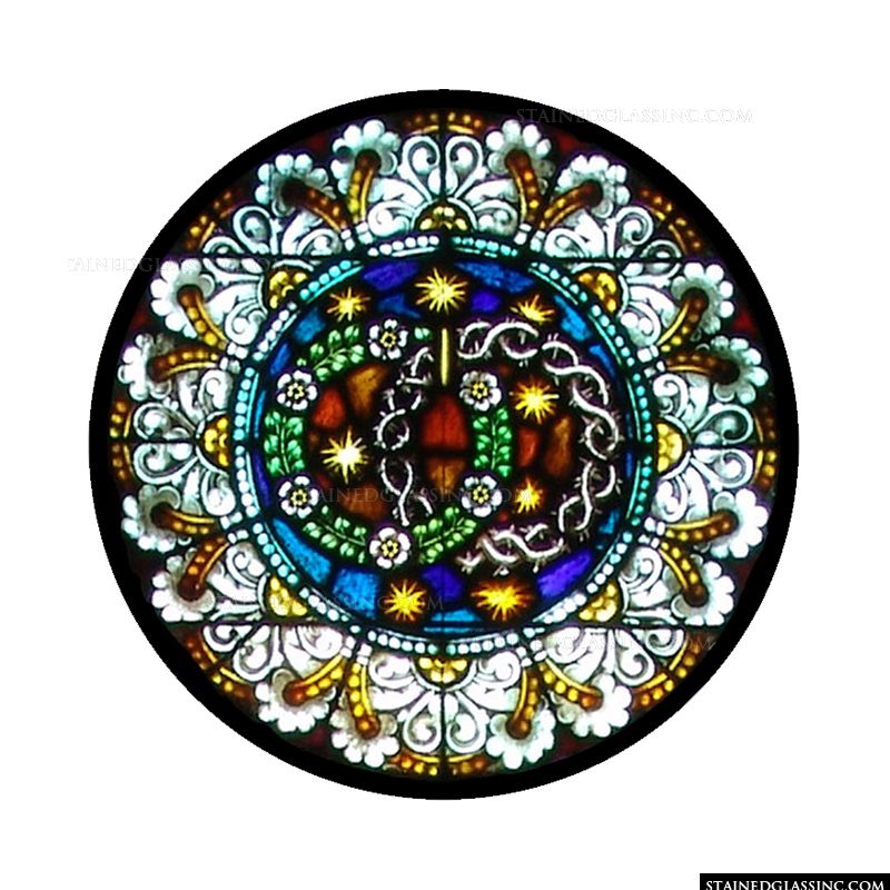 Death And Resurrection Of Christ Symbols Religious Stained Glass Window