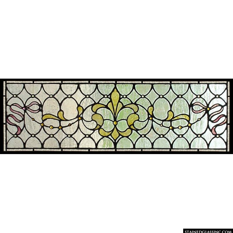 Stained glass transom.