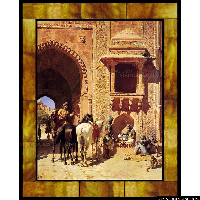 Gate of the Fortress at Agra India