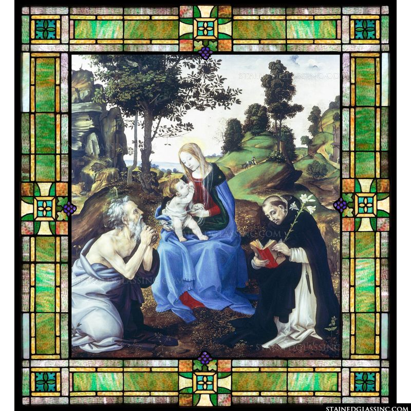 The Virgin and Child with Saints Gerome and Dominic