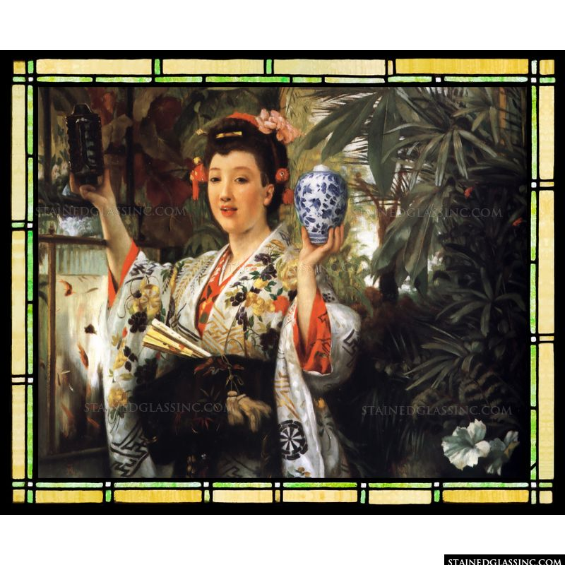 Young Lady Holding Japanese Objects