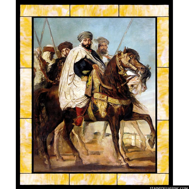 Ali-Ben-Hamet Caliph of Constantine of the Haractas Followed by His Escort