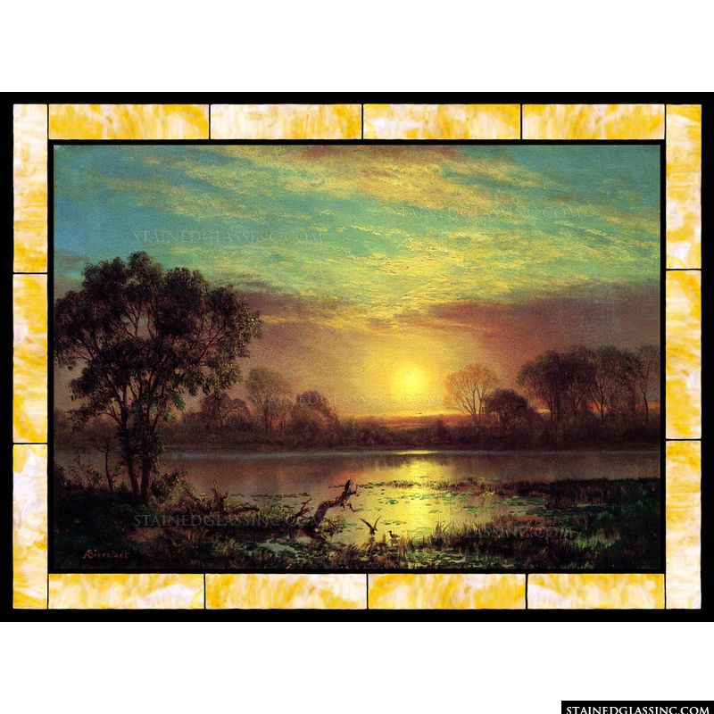 Evening Owens Lake California