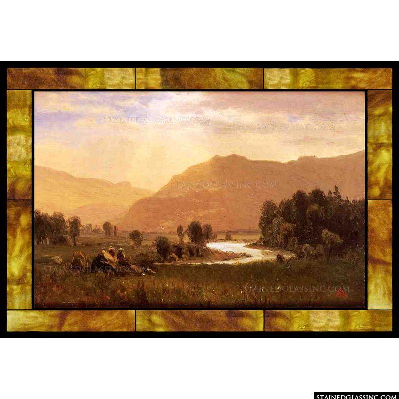 Figures in a Hudson River Landscape
