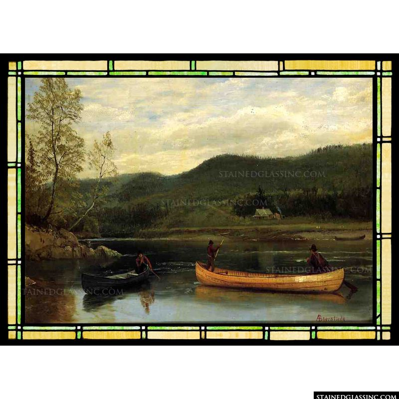 Men in Two Canoes