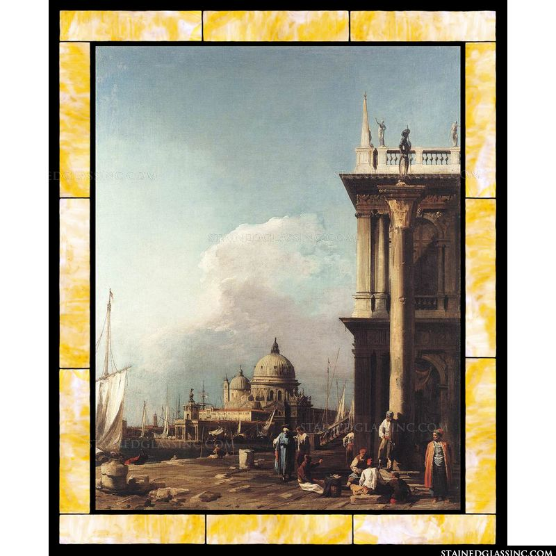 Venice - The Piazzetta Looking South-west towards S. Maria della Salute