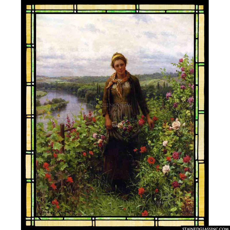 A Maid in Her Garden