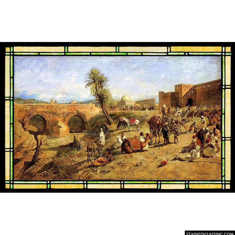 Arrival of a Caravan Outside the City of Morocco
