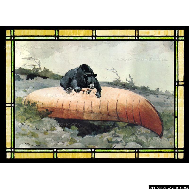 Homer Bear and Canoe