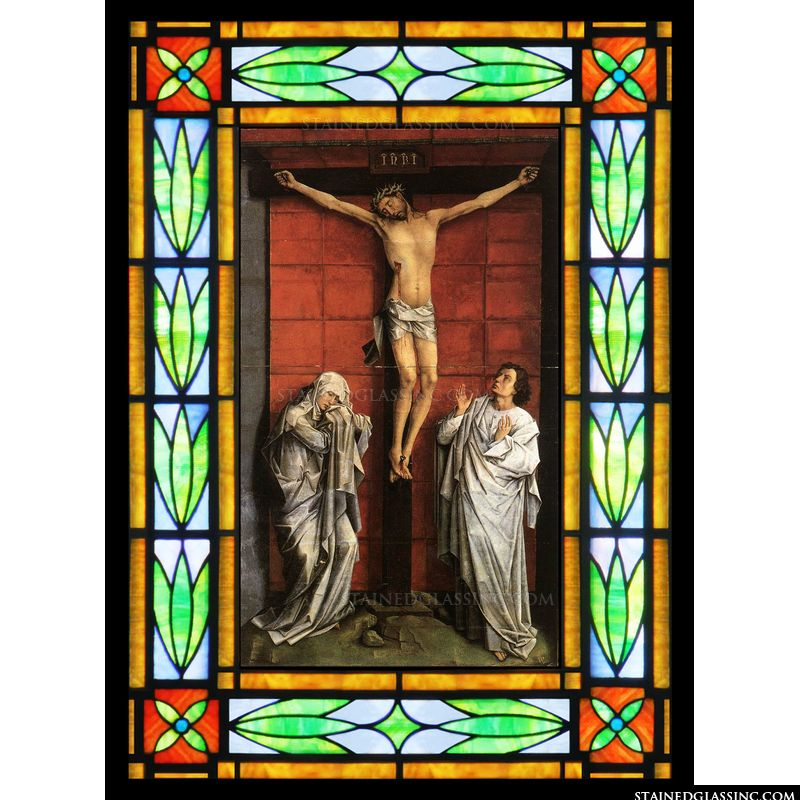 Christ on the Cross with Mary and St  John