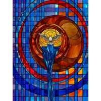 Modern Stylized Stained Glass Window