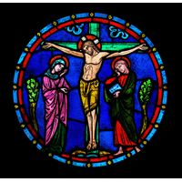 Crucifixion with Blessed Mary and St. John