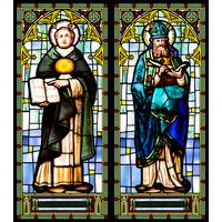 Serene St. Thomas Aquinas & St. Augustine